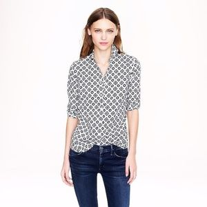 J. Crew Perfect Fit Foulard Print Button Up Shirt